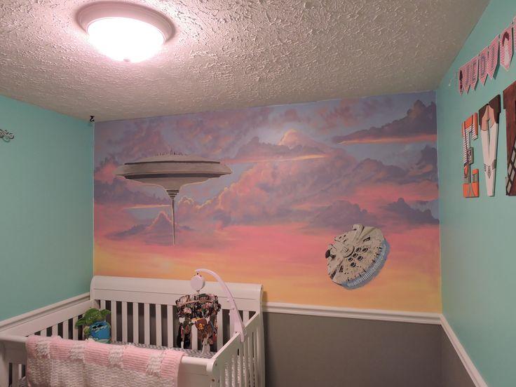 Star Wars Nursery - Cloud City Mural