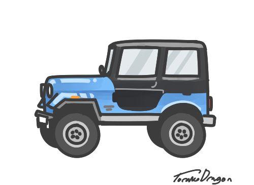 stiles's jeep, vroom vroom