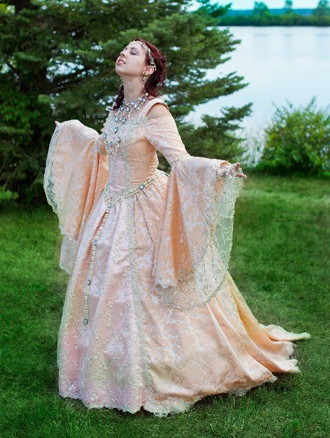 Gwendolyn Deluxe Fairy Princess Medieval Renaissance Wedding Gown Custom. $1,150.00, via Etsy.