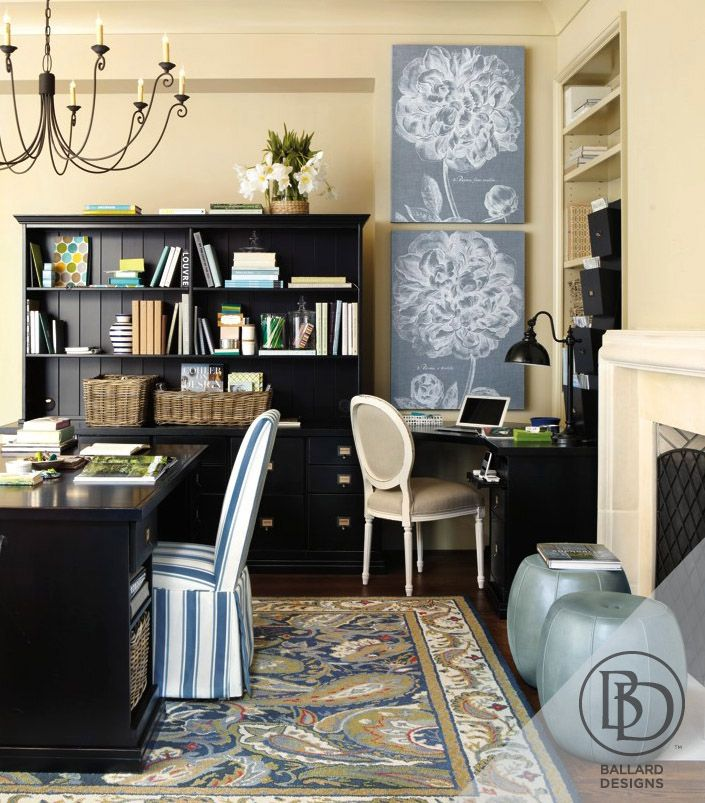 ... Offices, Offices Idea, Ballard Designs, Rooms Color, Design Offices