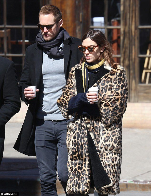 Reunited:Alexa Chung and her boyfriend Alexander Skarsgard were seen in New York on Thursday, marking the first time the couple have been seen together since September 2016