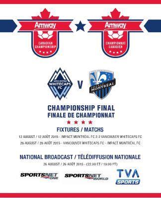WATCH: #canChamp final @WhitecapsFC v @impactmontreal live @Sportsnet World/ONE @TVASports 10pm ET / 7pm PT