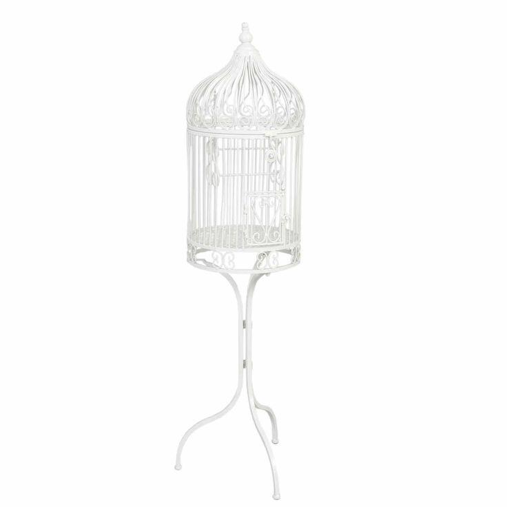 40177W Deko Vogelkäfig Pflanzkäfig Weiß ca. 33 x 132 cm: Amazon.de: Küche & Haushalt