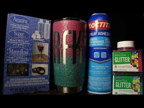 DIY - HOW TO MAKE LOGO GLITTER PAINTED YETI REC PRO OZARK TRAIL - YouTube