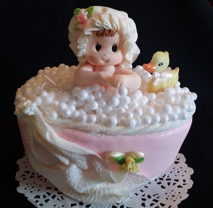Baby Girl and Baby Boy in a Bathtub Cake Topper and Decorations Baby Theme with little Yellow duck These baby Shower Cake Topper is great for your Cake Decoration and Centerpieces Approx 5.4 inches ta