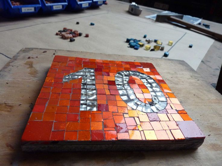 gold tesserae - number 10 - final view