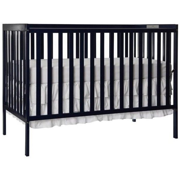 Dream On Me Synergy 5-in-1 Convertible Crib ($142) ❤ liked on Polyvore featuring home, children's room, children's furniture, nursery furniture and black