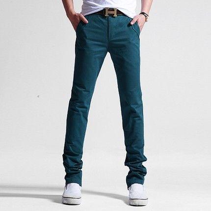 Новые мужские брюки случайных молодых мужчин Корейский тонкий ноги прямые джинсы хлопок случайных брюки мужские брюки прилив -tmall.com Lynx
