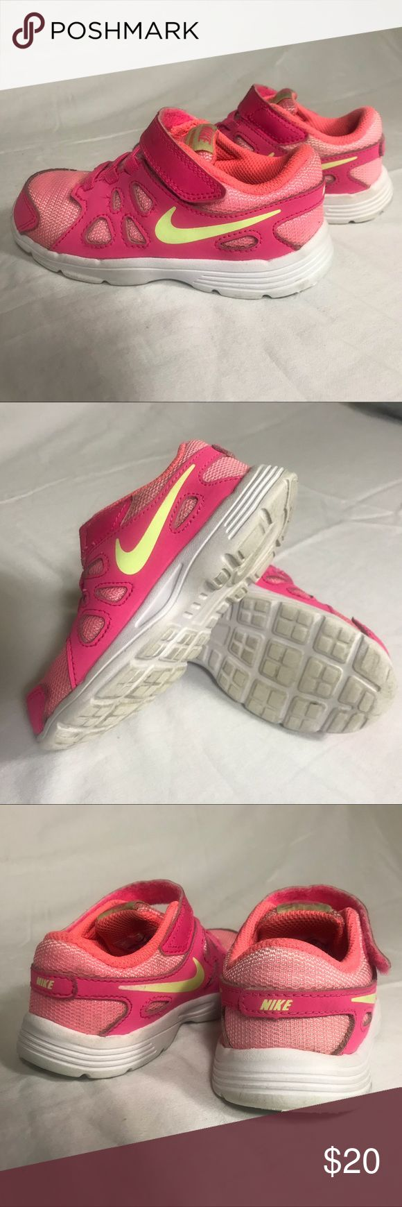 NIKE REVOLUTION 2 Girls Sz 9c Pre-owned Nike Revolution 2 TDV Girls Kids Running Shoes Pink Size 9c Good condition  Offers and bundles welcomed! Have a blessed day! Nike Shoes Sneakers
