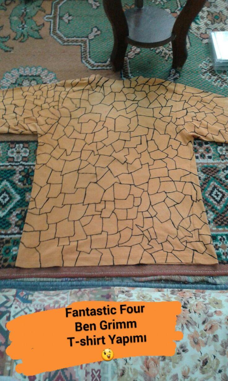 Fantastic Four Ben Grimm THE THING Tshirt DIY DESİGNER ... #fantasticfour #thething #bengrimm