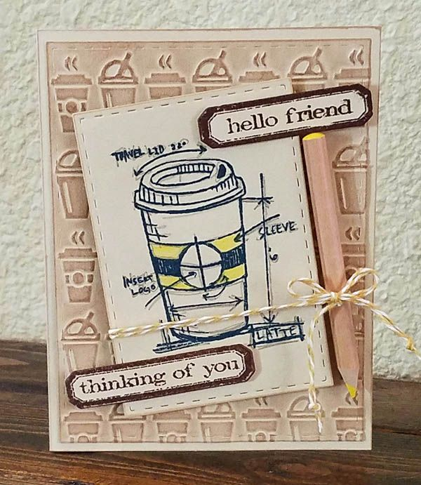 Last link up for today. This is my 3rd card for the Fall Coffee Lovers Blog hop. See previous post for details and links. These hops are ...