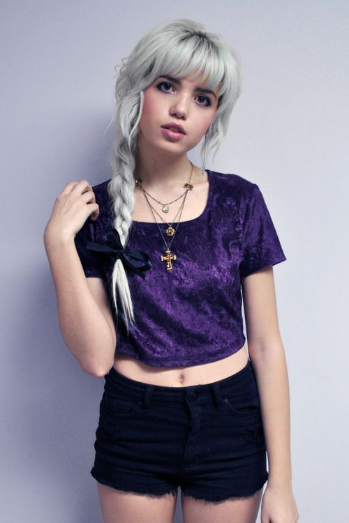 I love velvet and this purple top is a winner x