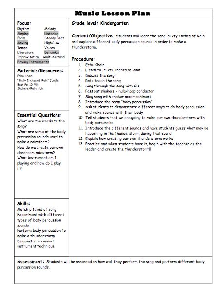 49 best Thanksgiving in the Music Room images on Pinterest Songs - sample music lesson plan template