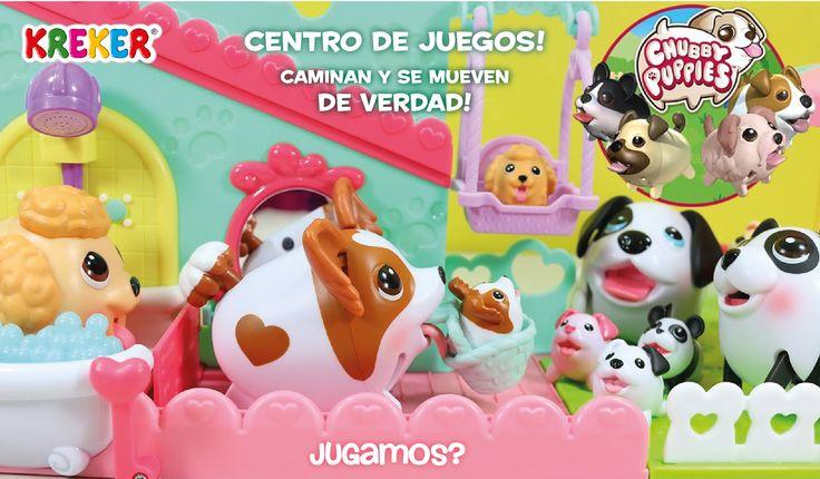 CHUBBY PUPPIES Centro de Juegos! Playset con sector de baño, ascensor, tobogan, hamaca y calesita. Incluye además 1 perrito Chubby Puppy, 1 bebé Puppy, 1 canastita de paseo e Instrucciones. Incluye pilas! #Kreker #Jugamos ? kreker@kreker.com