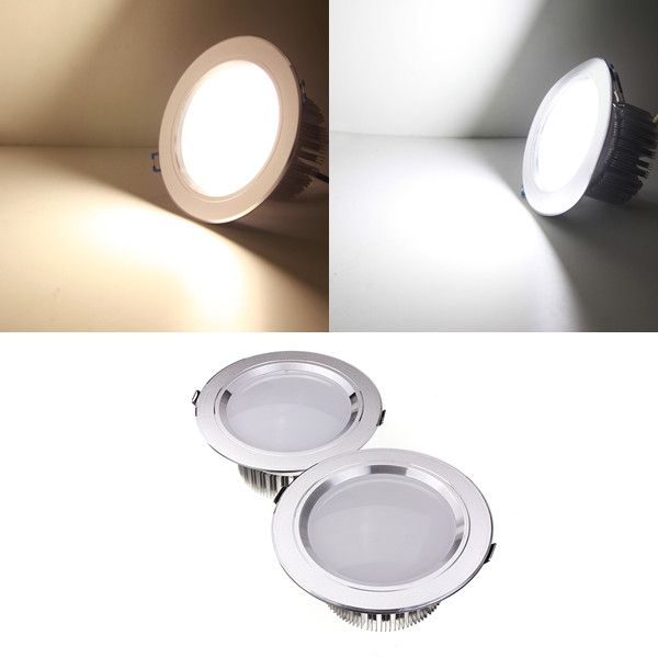 12w Led Down Light Ceiling Recessed Lamp Dimmable 110v Driver Led Down Lights Downlights Ceiling Lights