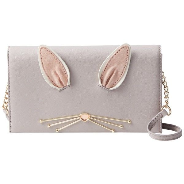 kate spade new york Make Magic Bunny Cali Leather Across Body Bag,... ($340) ❤ liked on Polyvore featuring bags, handbags, shoulder bags, leather crossbody, leather crossbody handbags, leather man bags, leather shoulder bag and leather shoulder handbags