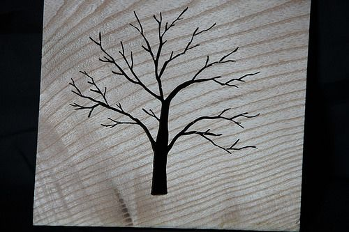 A Tree Silhouette made from a piece of Ash