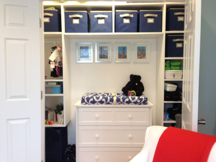 Cute idea for a small space nursery changing table in the closet baby pinterest - Changing table for small spaces gallery ...