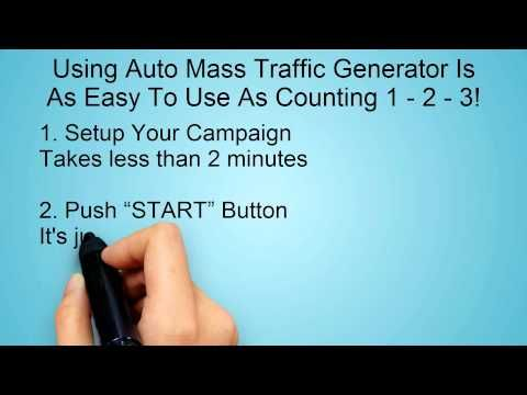 Auto Mass Traffic Generator - How To Get More Traffic To Your Site...