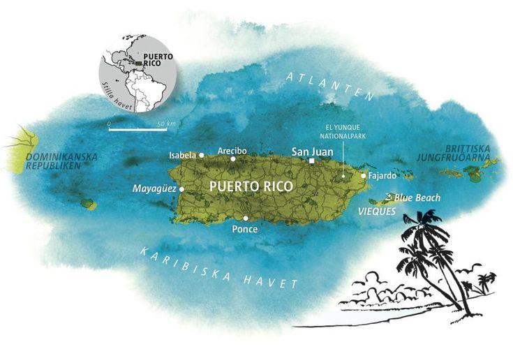 Boende, restauranger och upplevelser i Karibiens stolthet Puerto Rico.
