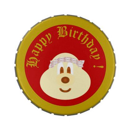 Birthday Souvenir from Band Hat 鲍 鲍 6 Candy Tins - kids kid child gift idea diy personalize design
