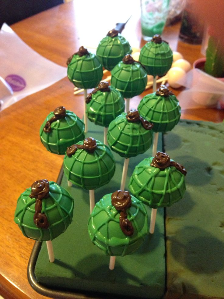 Grenade Cake Pops In 2019 Camo Birthday Party Cake Pops