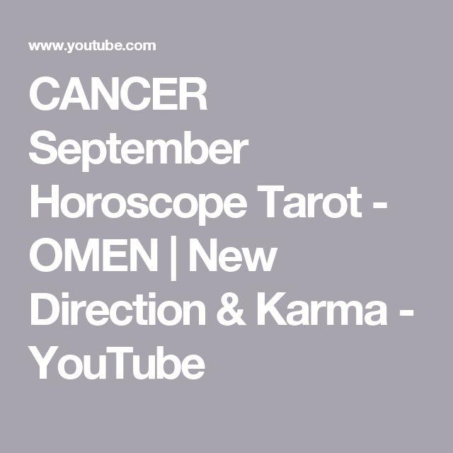 CANCER September Horoscope Tarot - OMEN | New Direction & Karma - YouTube