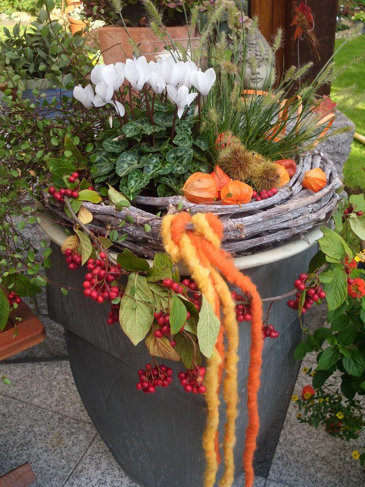 Simple Die besten Herbst blument pfe Ideen auf Pinterest Veranda blumen Herbst container gartenarbeit und Blumenk bel f r den Herbst