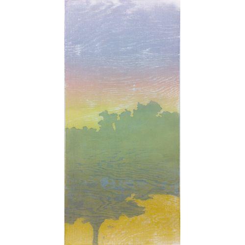 Beaver Road, Color Woodcut, 24in x 11in