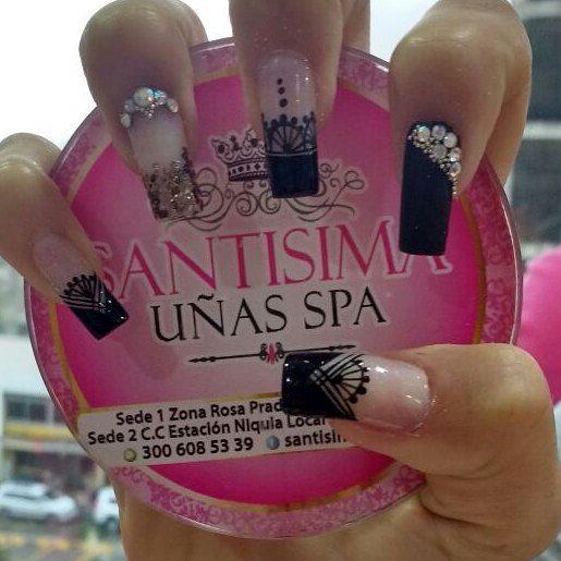 Resultado de imagen para decoracion de uñas santisima nails