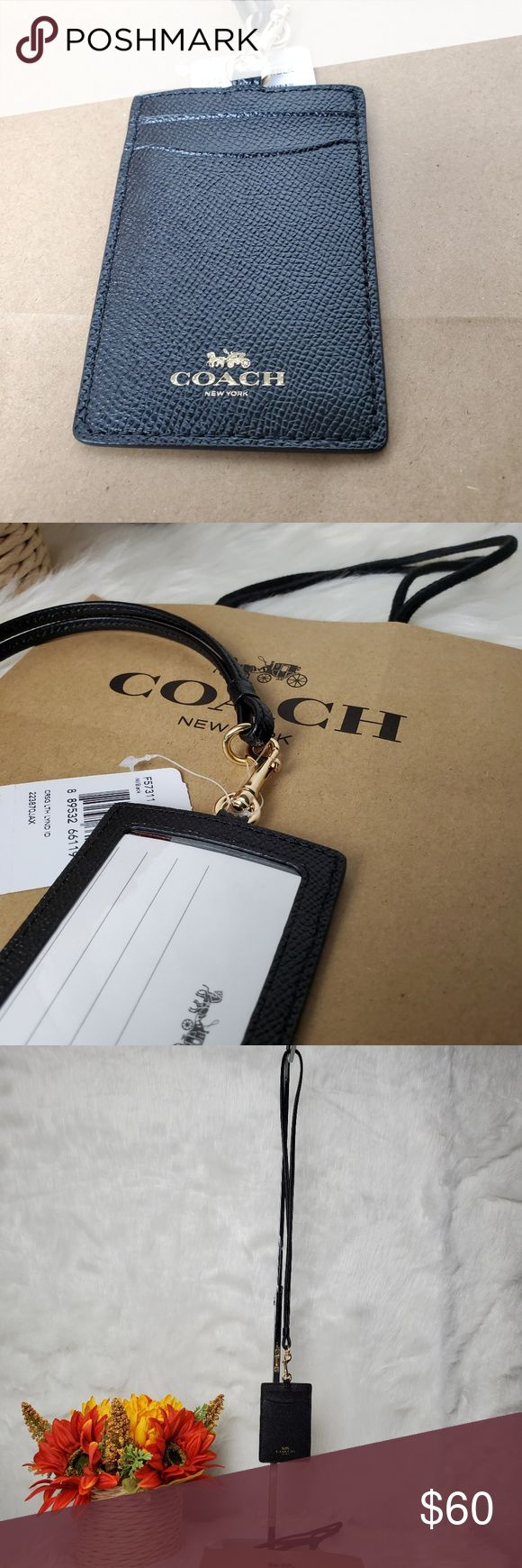 COACH ID CARD/CREDIT CARD HOLDER LANYARD ❗❗ BRAND NEW WITH TAG ❗❗ 🔥CO…
