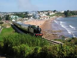 goodrington sands - look, a steam train even runs just behind the beach! This is mine and my daughter's favourite holiday beach, apart from Lyme Regis, obviously.