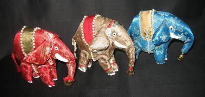 """""""Три слона """".Шарнирная текстильная игрушка.Ед.экз.Ручное шитье."""