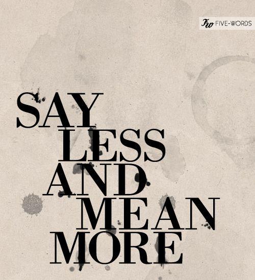 Five words.