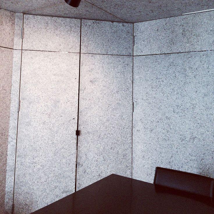 モノトーン/収納/木毛セメント板/扉/机のインテリア実例 - 2016-08-21 20:30:42   RoomClip(ルームクリップ)