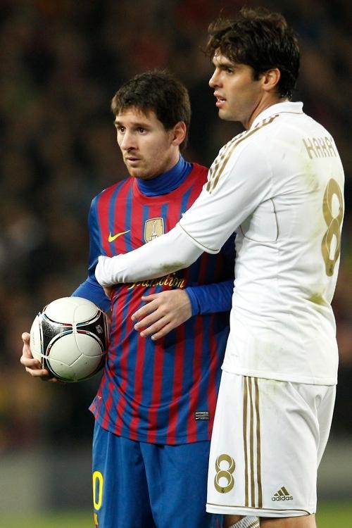 Awkward Messi hug @Dan Morgan
