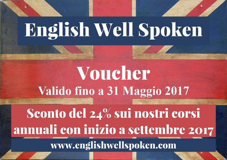 English Well Spoken vi offre uno sconto del 24% su tutti i corsi annuali con inizio a settembre 2017  Chi frequenta i nostri corsi di inglese?  Offriamo corsi per persone di tutte l'età, professioni e livelli, bambini da 3 a 6 anni e da 7 a 10 anni, ragazzi da 11 a 14 anni e da 15