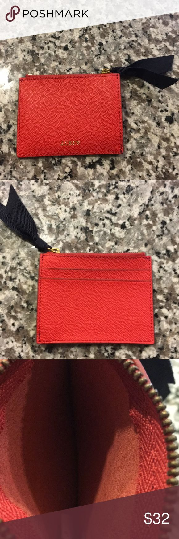 J.Crew Small Credit Card Holder/Zip Pouch Excellent condition never used. J. Cre…