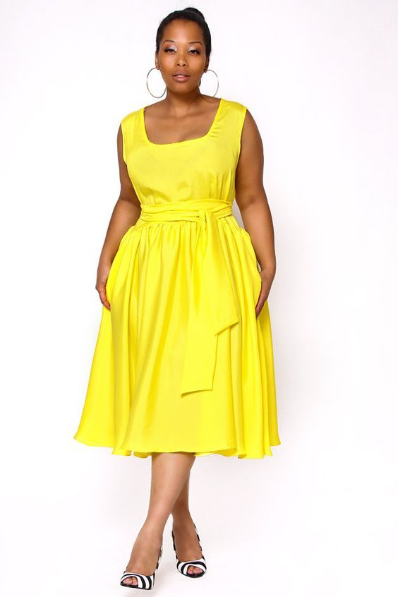 cool 5 plus size yellow dresses for fun spring style