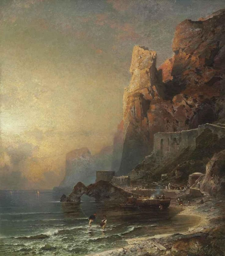 FRANZ RICHARD UNTERBERGER (УНТЕРБЕРГЕР)- ROMANTIC LANDSCAPE