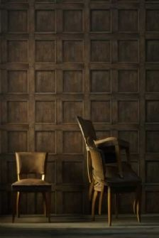 Paper by Andrew Martin (of whom I love his fabrics) looks JUST LIKE oak panelling! Wow.