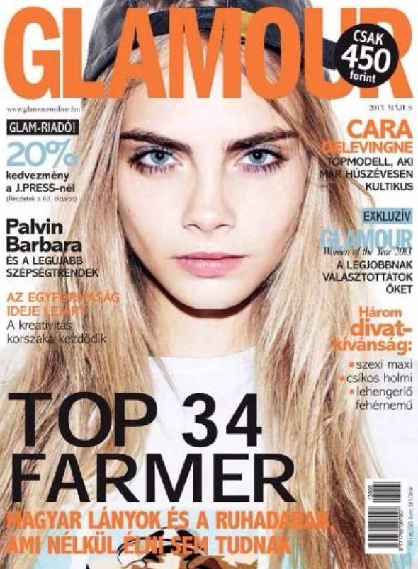Cara Delevigne Covers Glamour Magazine ( Hungary ) May ...