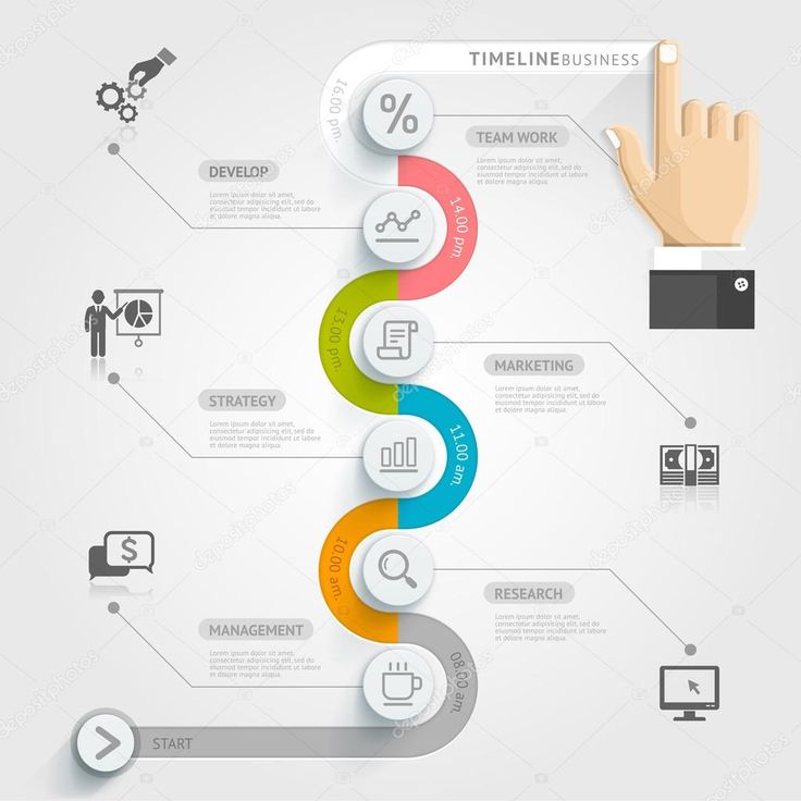 Business timeline infographic template. — Stock Illustration #52618953