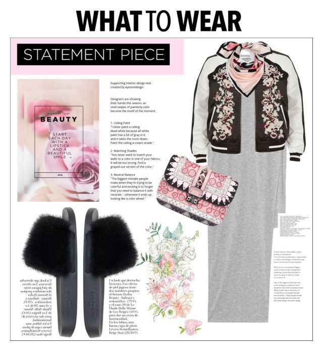 #pink is back . by nka12 on Polyvore featuring polyvore, fashion, style, Acne Studios, River Island, Givenchy, Valentino, Kate Spade and clothing