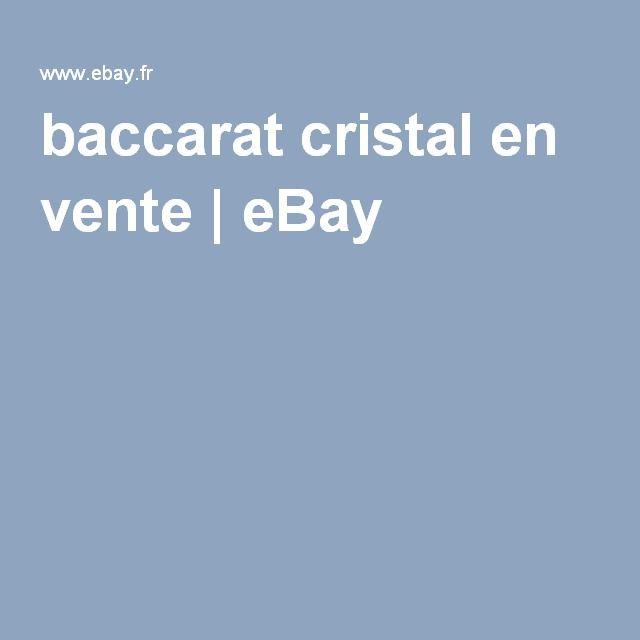 baccarat cristal en vente | eBay