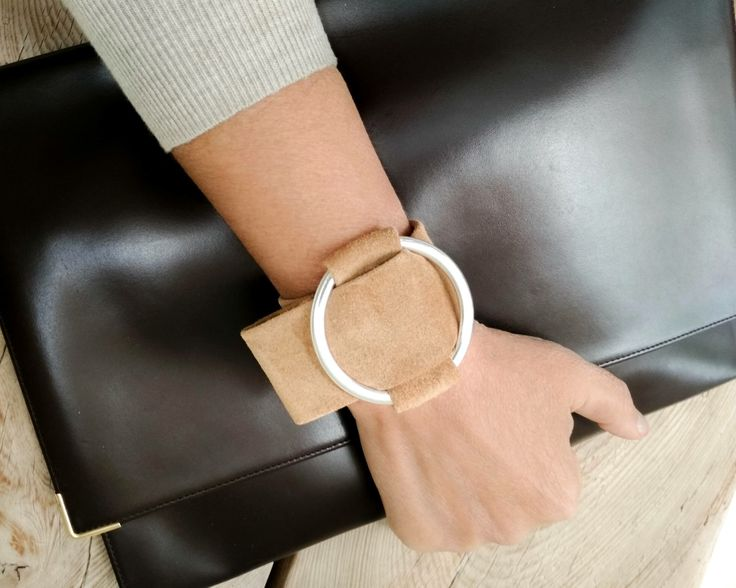 Excited to share the latest addition to my #etsy shop: Soft leather wide cuff bracelet, real nude suede wristband, modern minimalist fashion jewelry, handmade leather belt manchette, adjustable #jewelry #bracelet #beige #birthday #christmas #geometric http://etsy.me/2yp4Ocb
