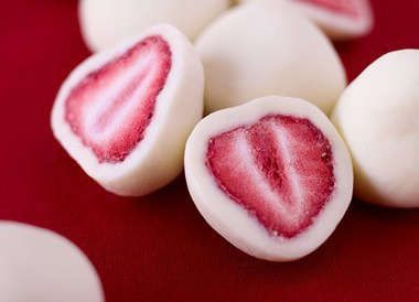 Freezer Fruit Treats : frozen greek yogurt covered strawberries