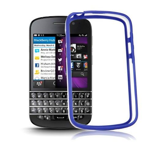 ClearBumper (Blue) Blackberry Q10 Bumper