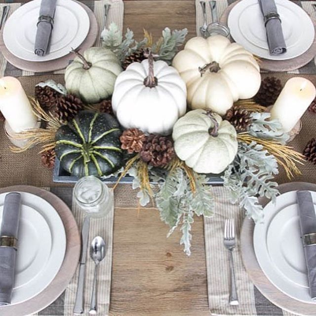 I'm loving this beautiful tablescape by @blesserhouse! #eclecticallyfall