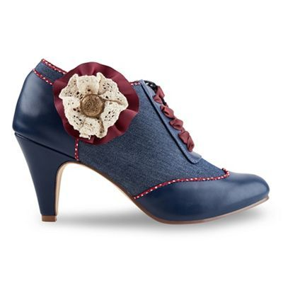Joe Browns Mid blue fabulous corsage shoe boots | Debenhams